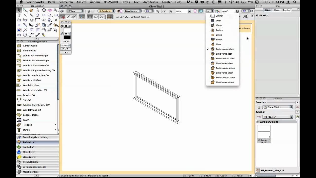 Vectorworks fenster youtube for Fenster 3d zeichnen