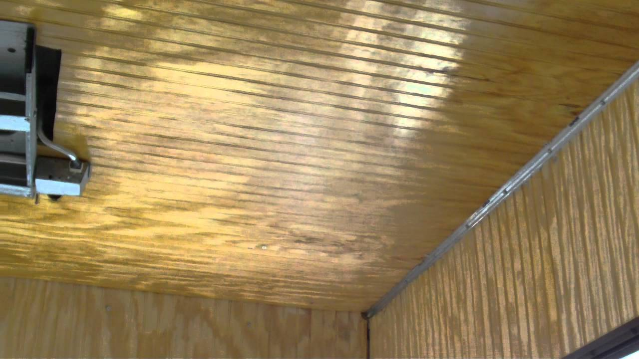 1983 33' southwind rv day 27 - a start on the ceiling - youtube