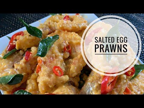 Salted Egg Yolk Prawns | Easy And Yummy