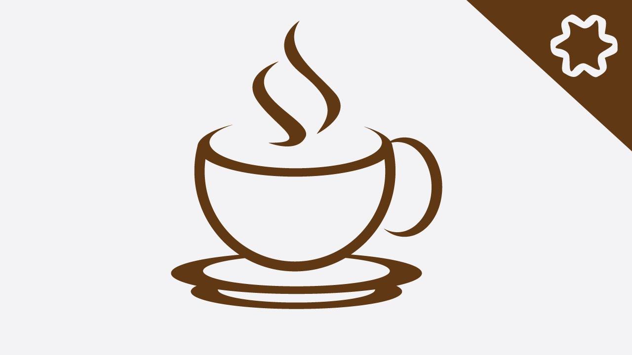 Logo Design illustrator  Simple Logo Design  How to Make Coffee Shop Logo Design  YouTube