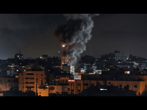 Explosions as Israeli airstrikes hit Gaza City early Monday morning