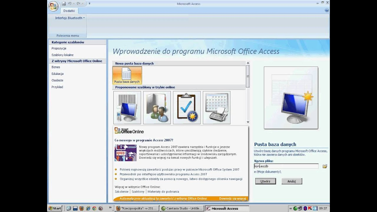 ms access 2007 Bob booth introduction to access 2007 3 1 introduction microsoft access is a database management system it allows information to be stored, organised and manipulated using a computer.