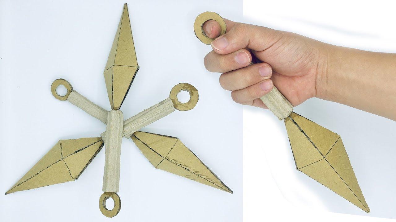 How to make a Paper Kunai Knife - EASY Origami Kunai Knives ... | 720x1280