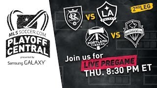 Real Salt Lake vs. Galaxy / Timbers vs. Sounders Live Pregame Show | Playoff Central