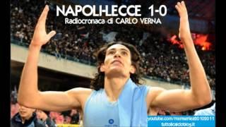 NAPOLI-LECCE 1-0 - Radiocronaca di Carlo Verna (19/12/2010) da Radiouno RAI