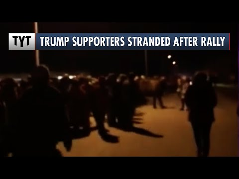 Trump Supporters Stranded After Rally After Campaign Buses Fail To Pick Them Up