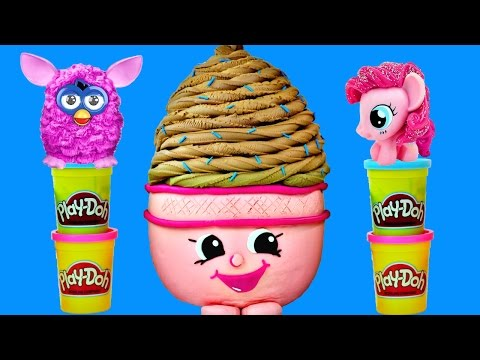 GIANT Play Doh Surprise Egg ICE CREAM DREAM from SHOPKINS