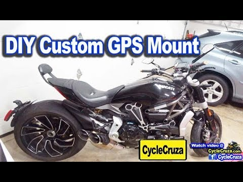Custom Motorcycle GPS Mount For Ducati XDiavel (Other Motorcycles Too!)