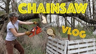 Saturday Night Special- Chainsaw Vlog & Pizza!