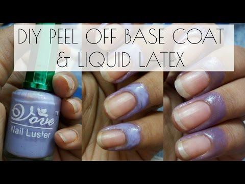 DIY peel off base coat & coloured liquid latex for nails