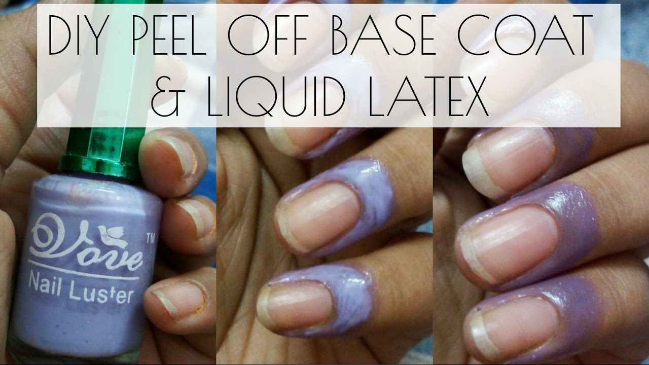 DIY peel off base coat & coloured liquid latex for nails - YouTube