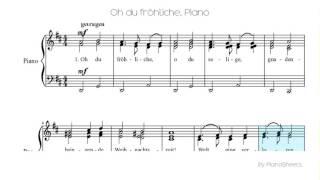 Piano solo sheet: oh du fröhliche