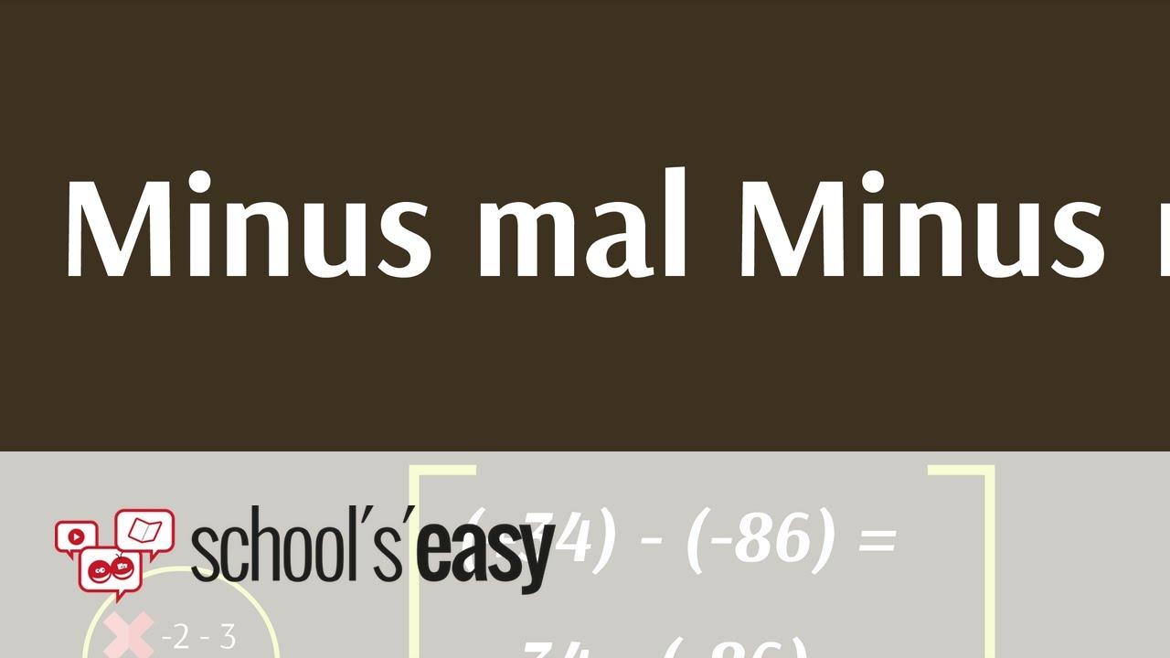 matheaufgabe minus mal minus rechnen mit vorzeichen