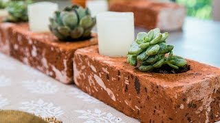 How To Make Succulent Brick Planters