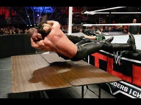 John Cena Vs Seth Rollins | Tables Match | Highlights HD
