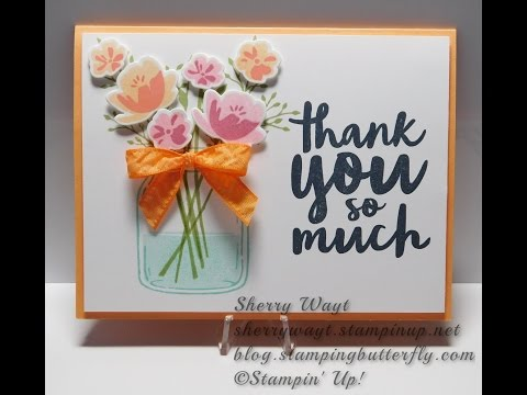 Jar of Love Thank You Card