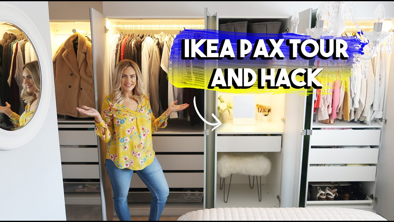 Ikea Pax Tour And Amazing Hack How I Saved Thousands On My Wardrobe And Planned It From Home 2020 Youtube