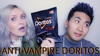 Trying Black Garlic Anti-Vampire Halloween Doritos! | Gaijin Edition  | AMWF