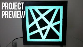 (Project Preview) - L.E.D Sticky Tape Stencil Picture