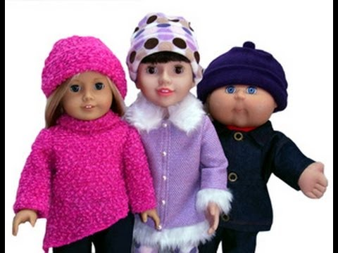 Free Doll Clothes Sewing Pattern Beanie For 18 Inch American Girl