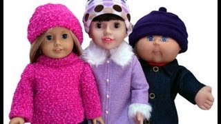 Free Doll Clothes Sewing Pattern Beanie For 18 Inch American Girl And Cabbage Patch Dolls