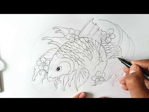How To Draw A Koi Fish Tattoo -koi Fish For Tattoo On Chest