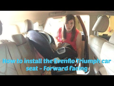How To Install The Evenflo Triumph Car Seat - Forward Facing