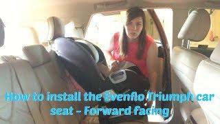 How to Install the Evenflo Triumph Car Seat - Forward facing