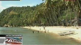 Mga white sand beach at rock formation, makikita sa isla ng Guimaras