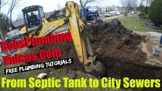 Septic Tank, Septic Tank Removal, New Sewer Installation