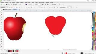 Video 1 -2 CorelDraw: Manzana usando trazos,  soldar, unir nodos y aplicar degradado download MP3, 3GP, MP4, WEBM, AVI, FLV Mei 2018