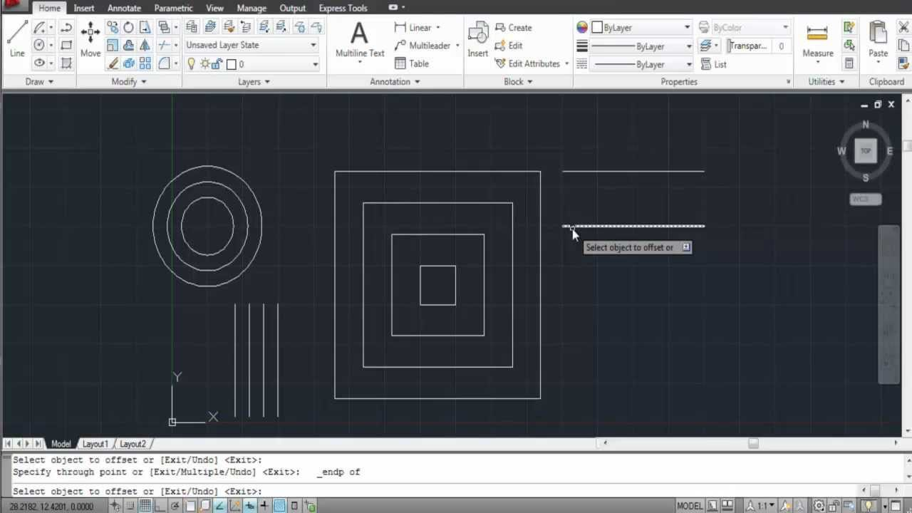 How to Offset in AutoCAD   YouTube How to Offset in AutoCAD