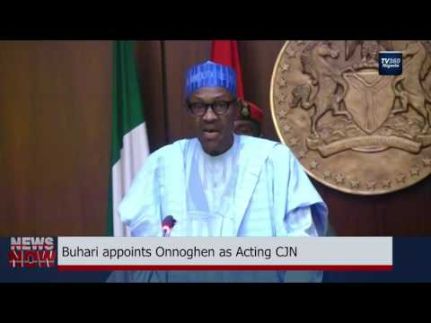 Buhari swears in Walter Onnoghen as acting Chief Justice of Nigeria