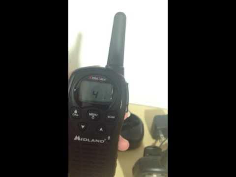 Radios Midland Walkie Talkie 22canal 38km 24millas