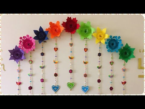 Backdrop -2 Paper Flowers Pooja Decoration