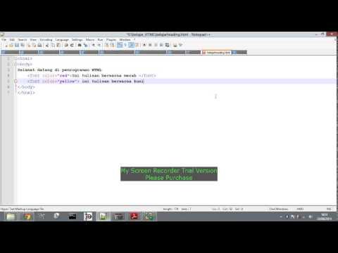Cara Membuat Font Warna Di HTML