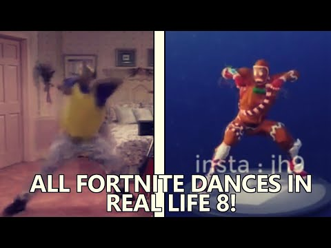 ALL FORTNITE DANCES IN REAL LIFE 8 UNRELEASED DANCES Rambunctious Boogie down
