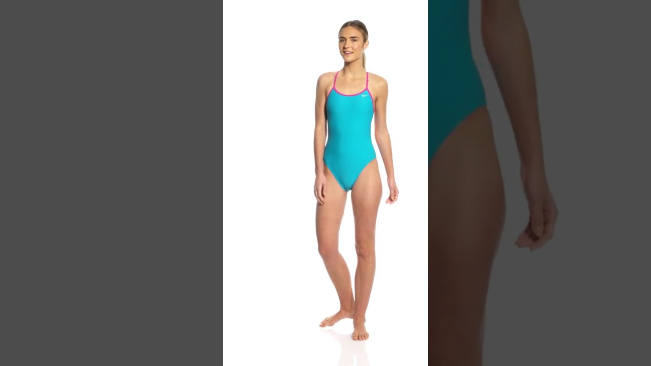 d42e39b840a Nike Women s Solid Crossback One Piece Swimsuit
