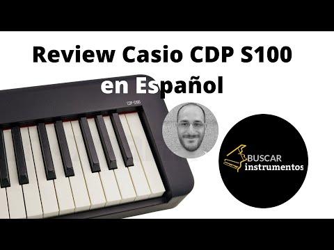 Review y Demo del Piano Casio CDP S100 en Español