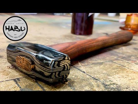 HABU \\ Forging A Wild Damascus Hammer