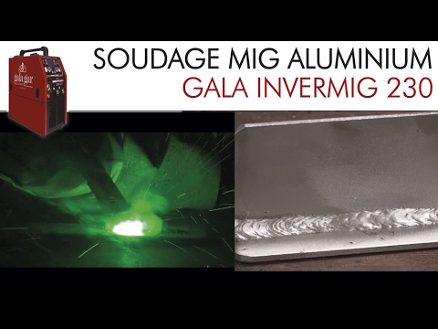 soudage mig aluminium avec gala invermig youtube. Black Bedroom Furniture Sets. Home Design Ideas
