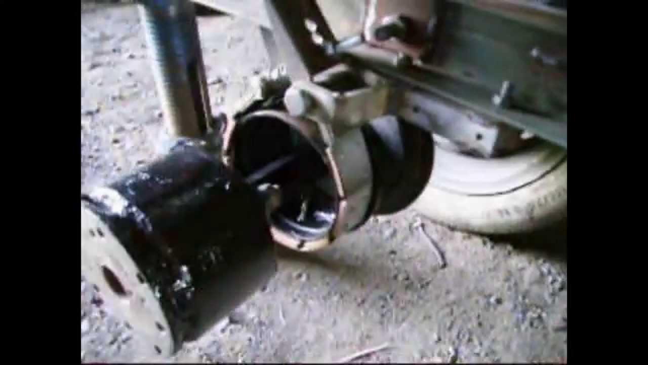 Как сделать тормоз к прицепу мотоблока 113