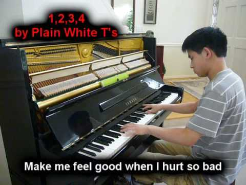 1, 2, 3, 4  Plain White Ts Piano