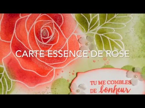 carte encr e essence de rose stampin 39 up youtube. Black Bedroom Furniture Sets. Home Design Ideas