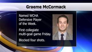 Graeme McCormack Named WCHA Defensive Player of the Week - Lakeland News Sports - October 19, 2015