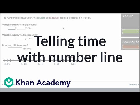 Telling time problems with number line | Fractions | 3th grade | Khan Academy