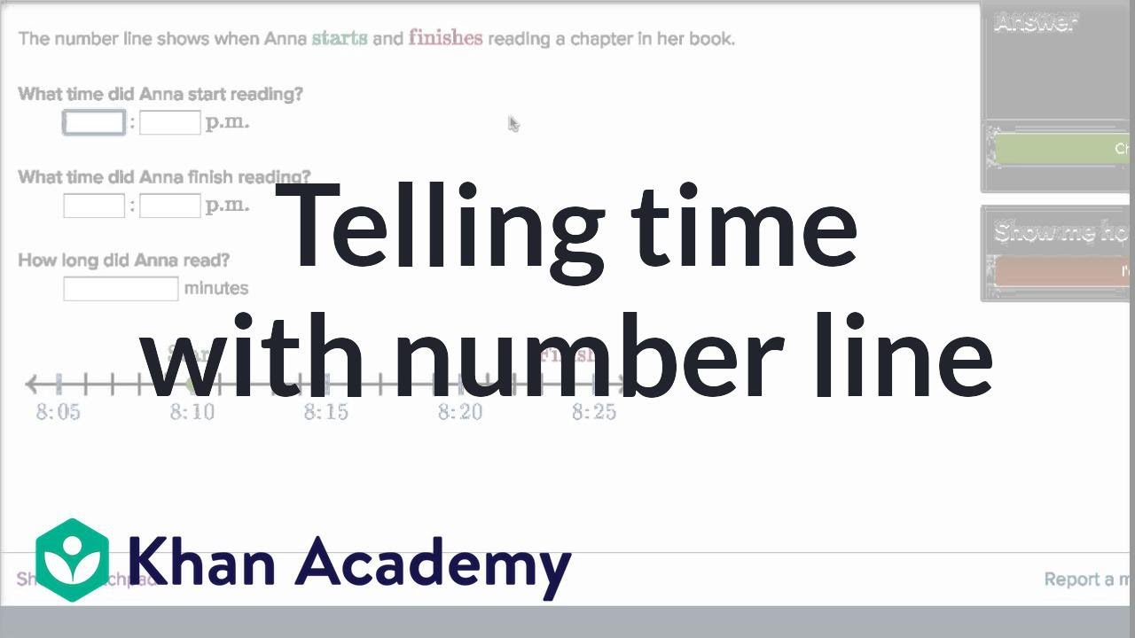 small resolution of Telling time with number line (video)   Time   Khan Academy