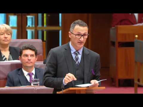 Senator Richard Di Natale's Address in Reply Speech