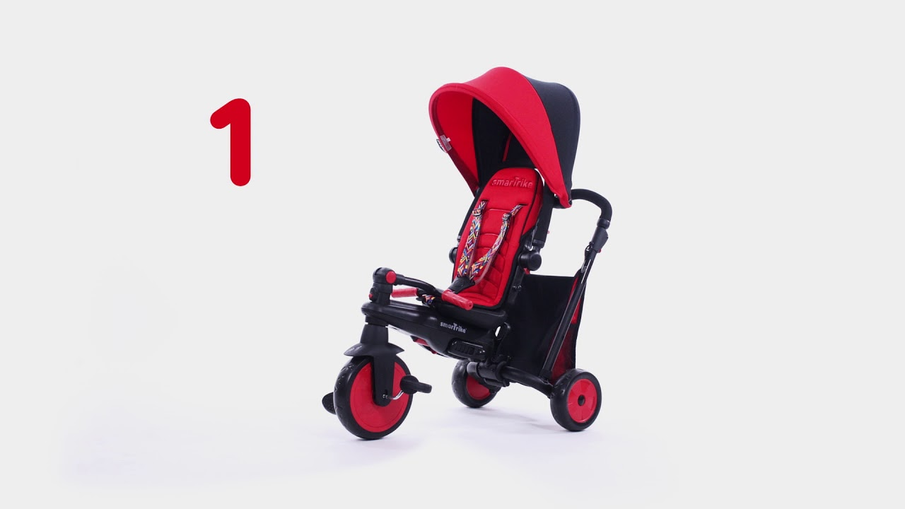 Smart Trike Roze Smartfold 300 6 In 1 Roze Smart Trike Driewieler 5021200