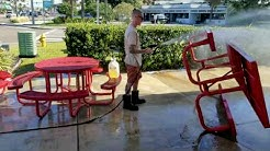 Pressure washing Rita's ice cream Jacksonville Beach Florida
